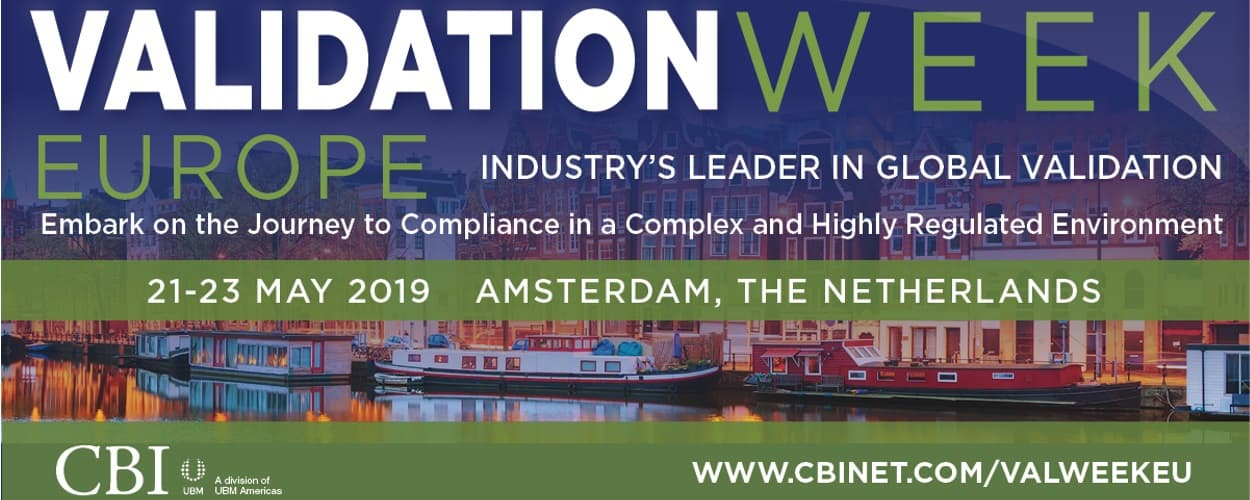 10th Annual Validation Week Europe